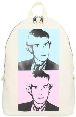 Calvin Klein Backpack In White Fabric