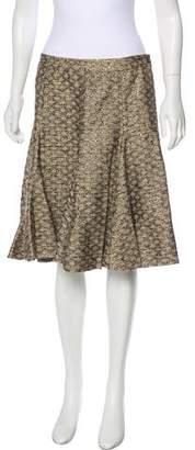 Matthew Williamson Brocade A-Line Skirt