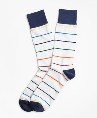Brooks Brothers Happy Stripe Crew Socks