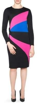Stizzoli, Plus Size Colorblock Sheath Dress