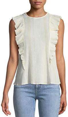 MiH Jeans Hardin Sleeveless Frill Top