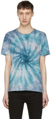 Champion Reverse Weave Blue Tie Dye T-Shirt