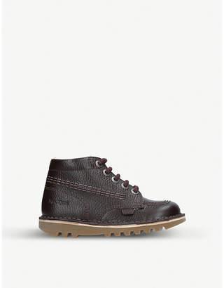Kickers Kick Hi leather boots 3-7 years