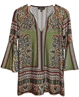 Paige Melissa Green Paisley Top