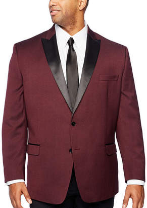 COLLECTION Collection by Michael Strahan Burgundy Tux Jacket - Big & Tall