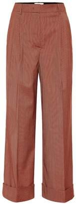Fendi Wool-blend wide-leg pants