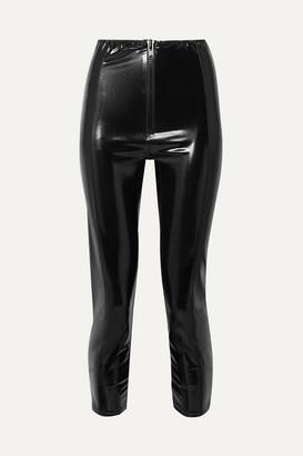 Lisa Marie Fernandez Hannah Stretch-pvc Leggings - Black