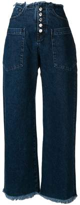 Marques Almeida Marques'Almeida high-waisted straight jeans