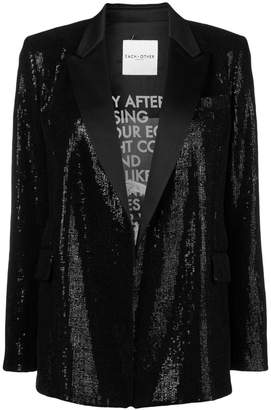 Each X Other sparkling sequins embellished jacket
