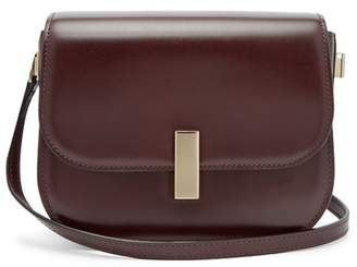 Valextra Iside Cross Body Leather Bag - Womens - Burgundy