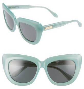 Women's Sonix Coco 55Mm Cat Eye Sunglasses - Cloud/ Black Solid $98 thestylecure.com