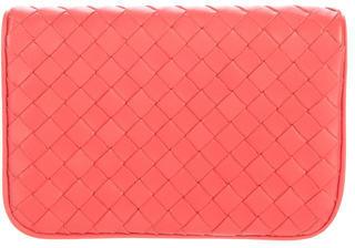 Bottega VenetaBottega Veneta Intrecciato Leather Compact Wallet
