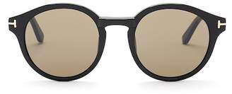 Tom Ford Lucho 49mm Round Sunglasses