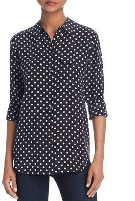 Equipment Slim Signature Silk Dot Shirt