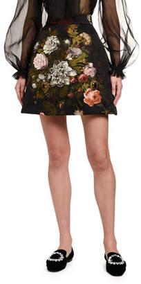 Dolce & Gabbana Baroque Rose-Jacquard Skirt