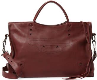 Balenciaga Blackout City Medium Leather Shoulder Bag