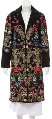 Alice + Olivia Embellished Wool Coat