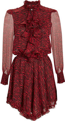 At Intermix Redemption Victorian Red Zebra Print Dress