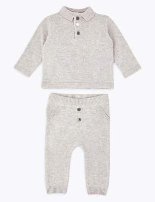 Marks and Spencer 2 Piece Knitted Outfit