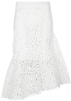 Milly Charlotte Asymmetric Guipure Lace Skirt
