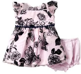 Laura Ashley Velvet Floral Mesh Dress (Baby Girls 12-24M)