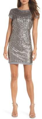 Vince Camuto Sequin Embellished Shift Dress