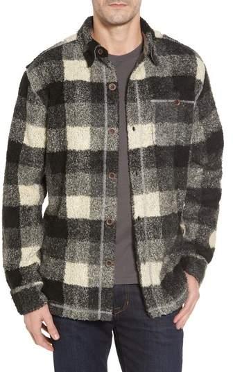 Textured Buffalo Check Shirt Jacket
