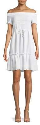 MICHAEL Michael Kors Smocked Off-the-Shoulder Dress
