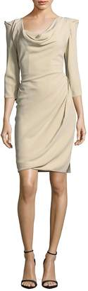 Vivienne Westwood Women's Solid Three-Quarter-Sleeve Sheath Dress