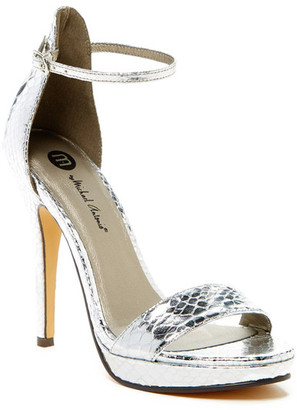 Michael Antonio Rally Snake Embossed Heeled Sandal $49 thestylecure.com