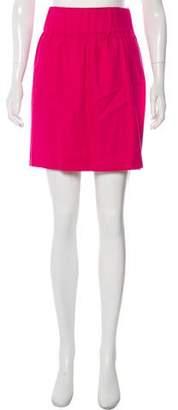 Loeffler Randall Linen-Blend Mini Skirt