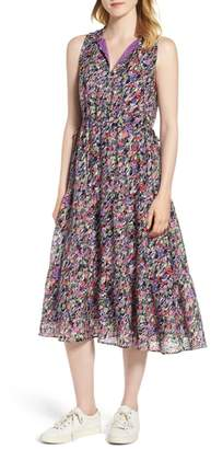 Nordstrom Signature Tiered Floral Silk Dress