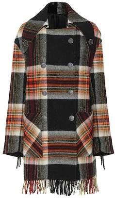 Calvin Klein Checked wool coat