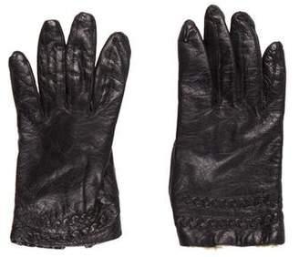 Neiman Marcus Embellished Leather Gloves