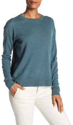Vince Cashmere Boxy Long Sleeve Hi-Lo Pullover Sweater