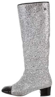 Chanel 2017 Glitter Knee-High Boots