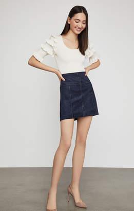 BCBGMAXAZRIA Welt Pocket Faux Suede Skirt