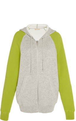 Michael Kors Colorblock Cotton Cashmere Hoodie