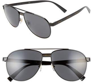 Versace Phantos 58mm Aviator Sunglasses