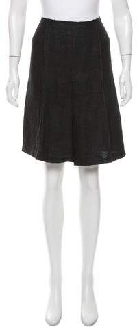 prada Prada Pleated Knee-Length Skirt