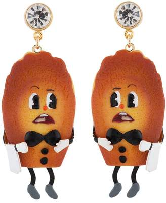 Les Nereides N2 by Tea Time Palace Scared Madeleine-Waiter Earrings - Brown