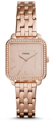 Fossil Shiloh Three-Hand Rose Gold-Tone Stainless Steel Watch