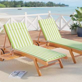 Beachcrest Home Polyester Indoor/Outdoor Chaise Lounge Cushion