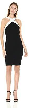 Calvin Klein Women's Color Block Halter Neck Dress