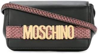 Moschino foldover logo shoulder bag