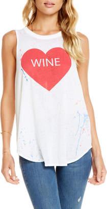 Chaser Heart Wine Paint-Splatter Tank