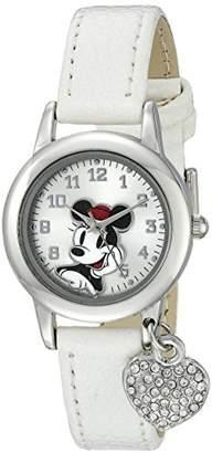 Disney Women's MN1009 Minnie Mouse White Lizard Strap with Charm Watch