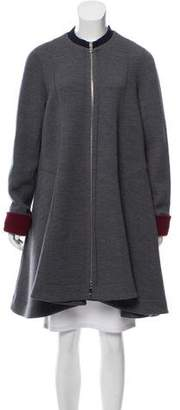 Christian Dior Wool-Blend Swing Coat