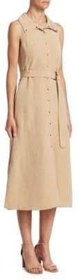 Akris Punto Belted Sleeveless Dress