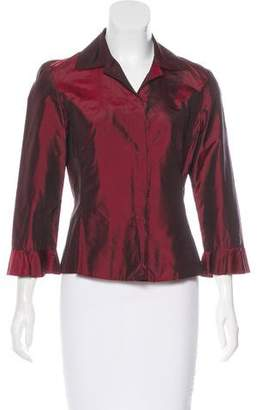 Tahari Silk Button-Up Top w/ Tags